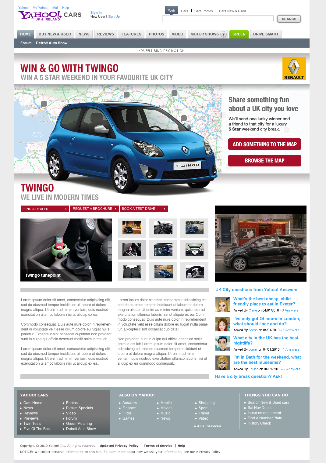 Win & Go with twingo - Web design from Farnborough