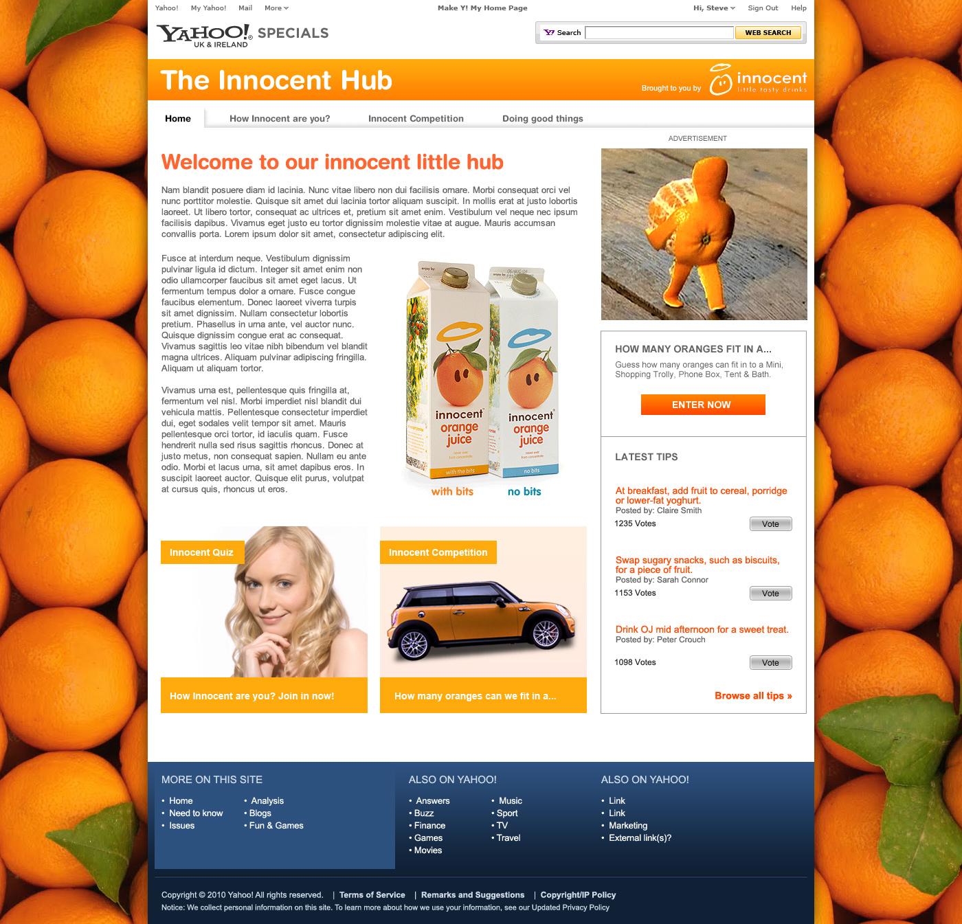 The innocent Hub - Web Design in Farnborough, Hampshire