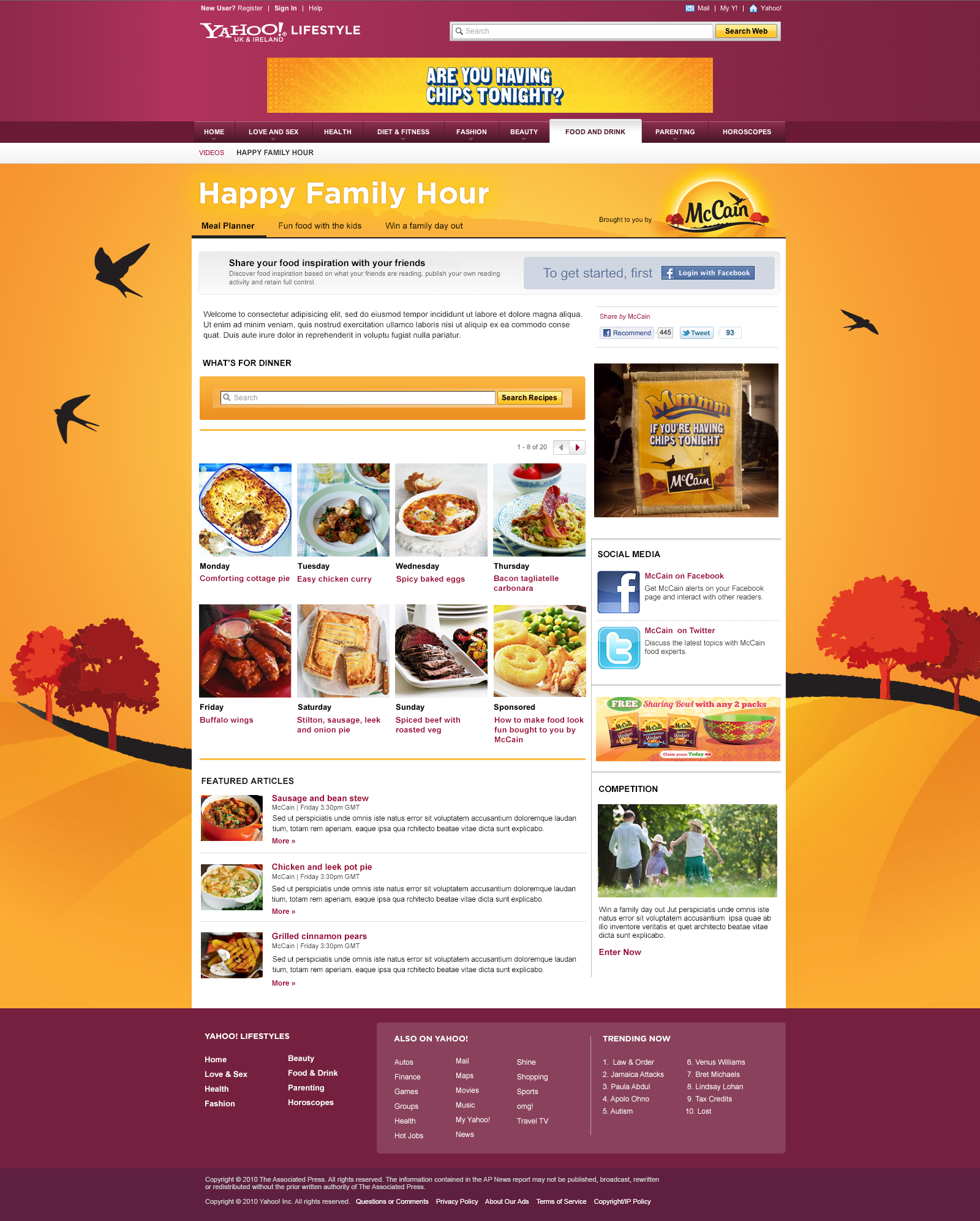 Happy family hour - Web Design Farnborough, Hampshire