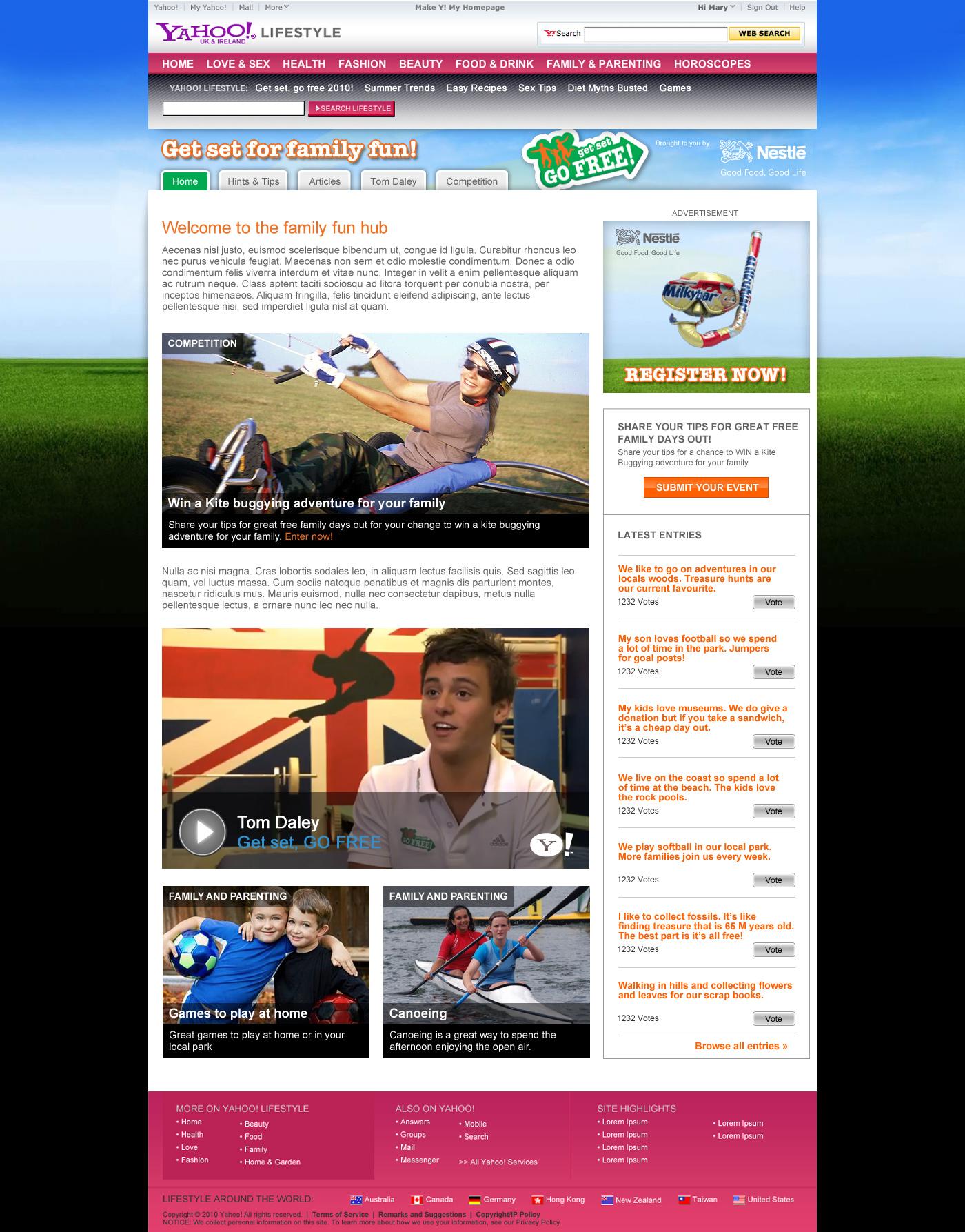 Get set for family fun! Web design in Farnborough, Hampshire