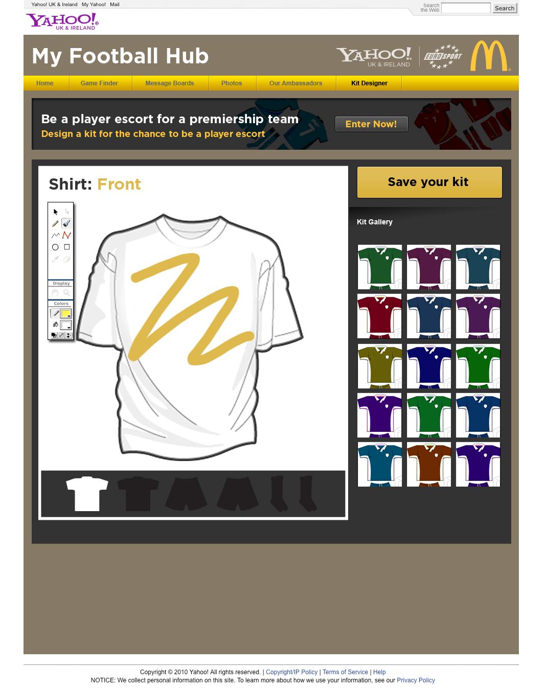 Design your kit - website design & development Farnborough