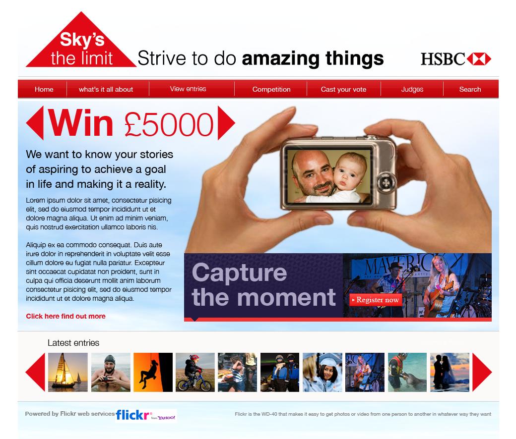 Win £5000 with HSBC - Website Design in Farnborough