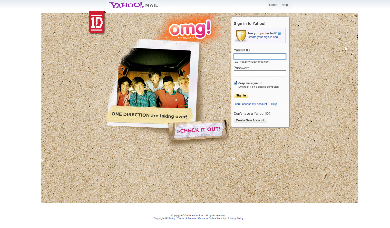 OMG it's One Direction - Web Design Farnborough, Hampshire - advertising