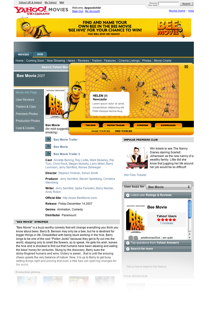 Bee movie - Name a bee game - Web Design in Farnborough