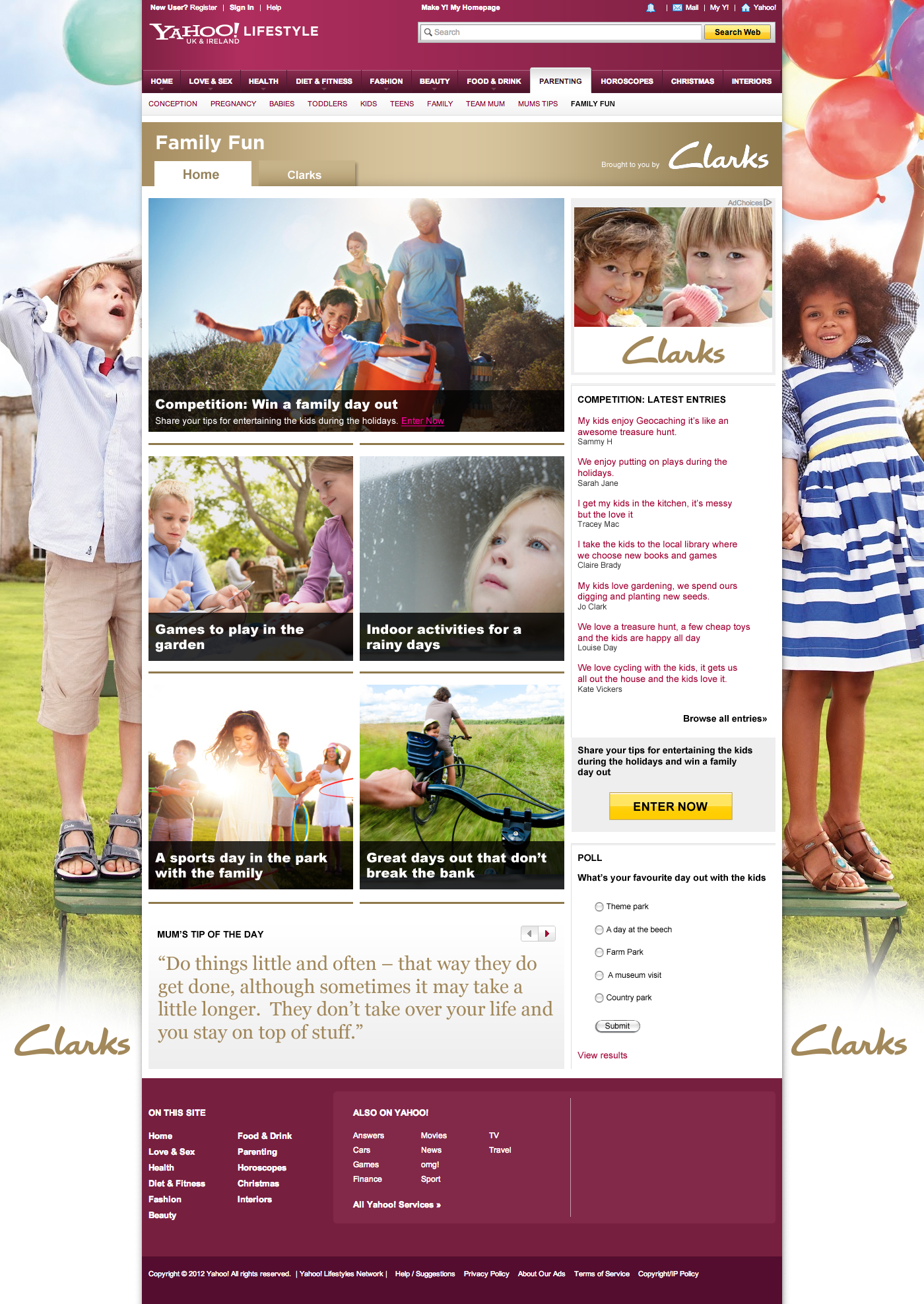 Clarks Family Fun - Website design Farnborough, Hampshire