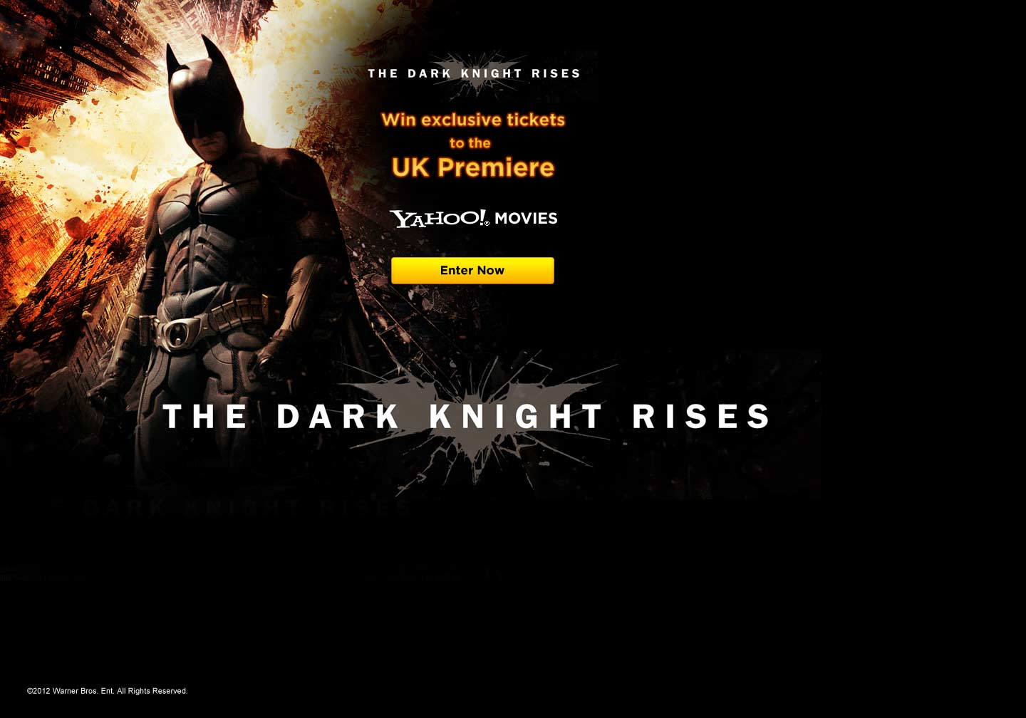 Win tickets to the Dark Knight Rises premiere - advertsing - Web Design Farnborough, Hampshire