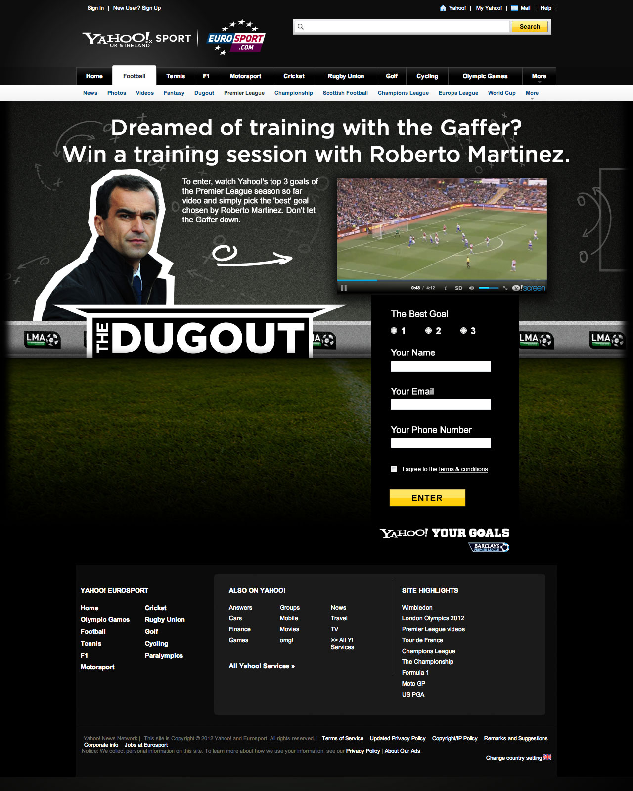 Another footy comp! - Web design in Farnborough, Hampshire