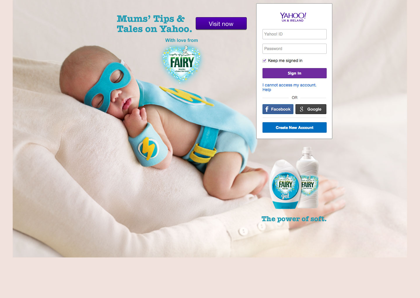 Mums' Tips & Tales on Yahoo! - Web design Farnborough