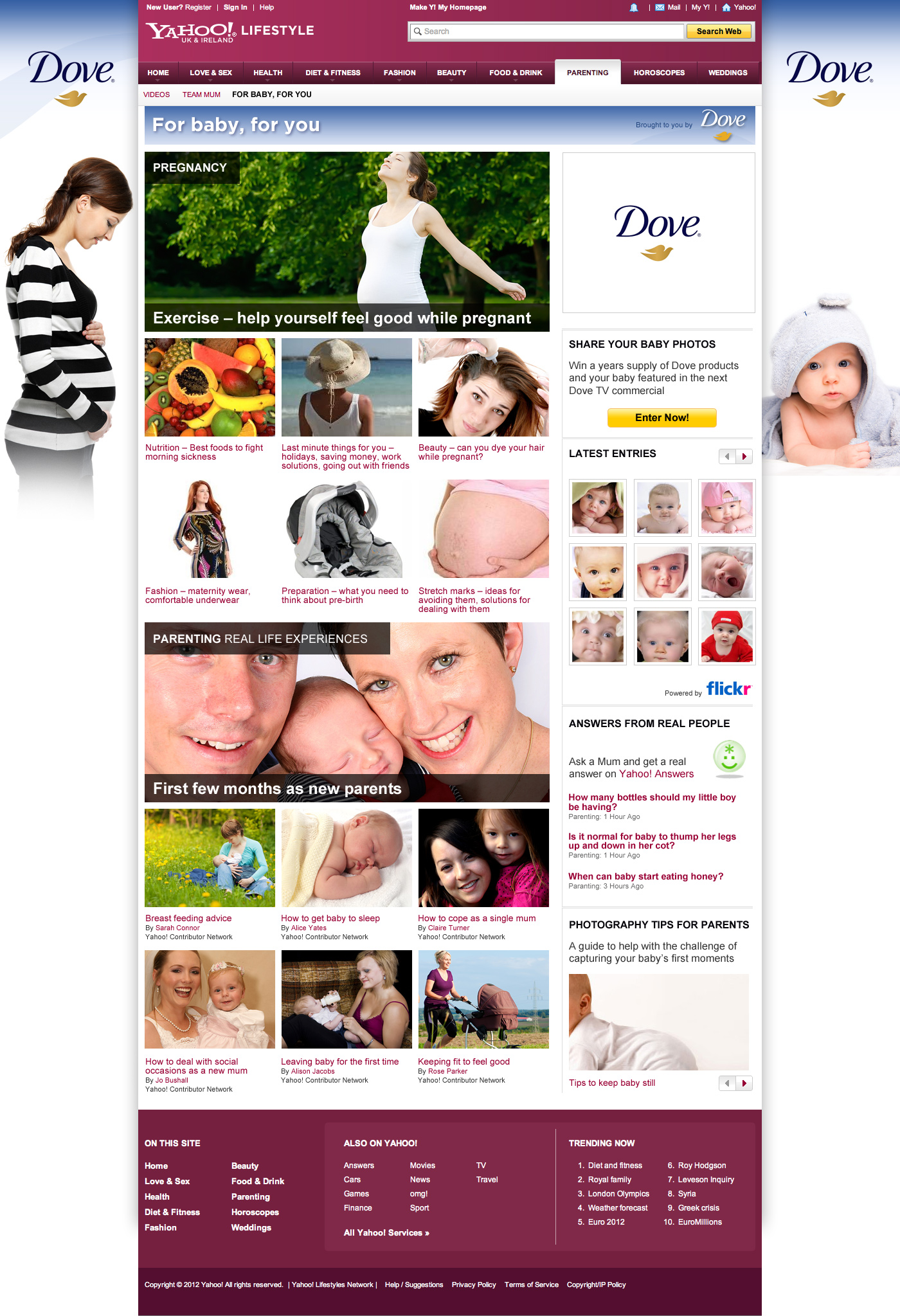 Dove - For baby, for you - Website Design Farnborough