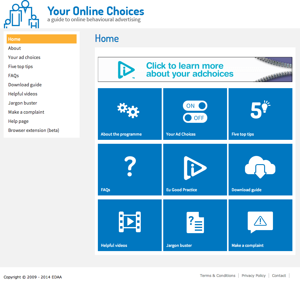IAB - Your online choices - Website development from Farnborough