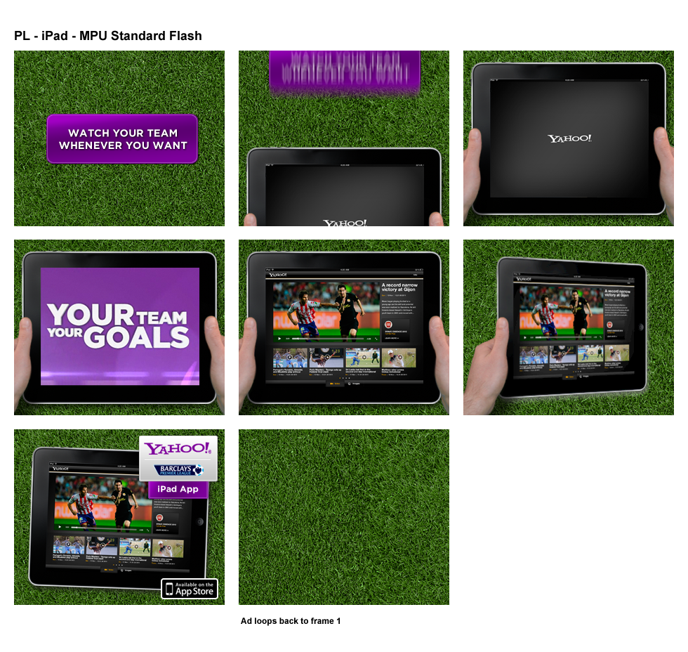 Premier League iPad App - Banner creative - Website Design Farnborough, Hampshire