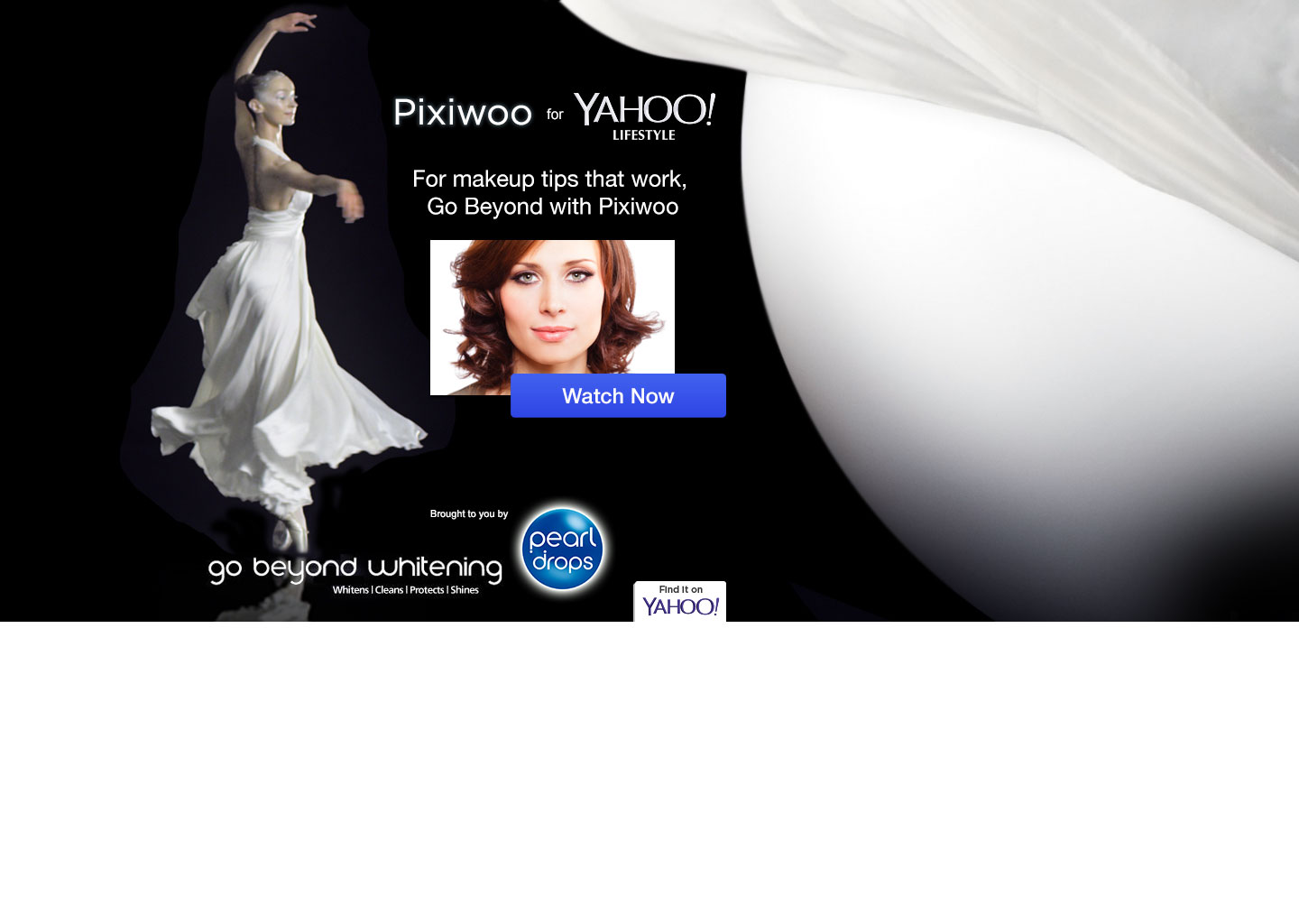 PearlDrops & Pixiwoo - Login Ad - Advertising - Website design Farnborough, Hampshire