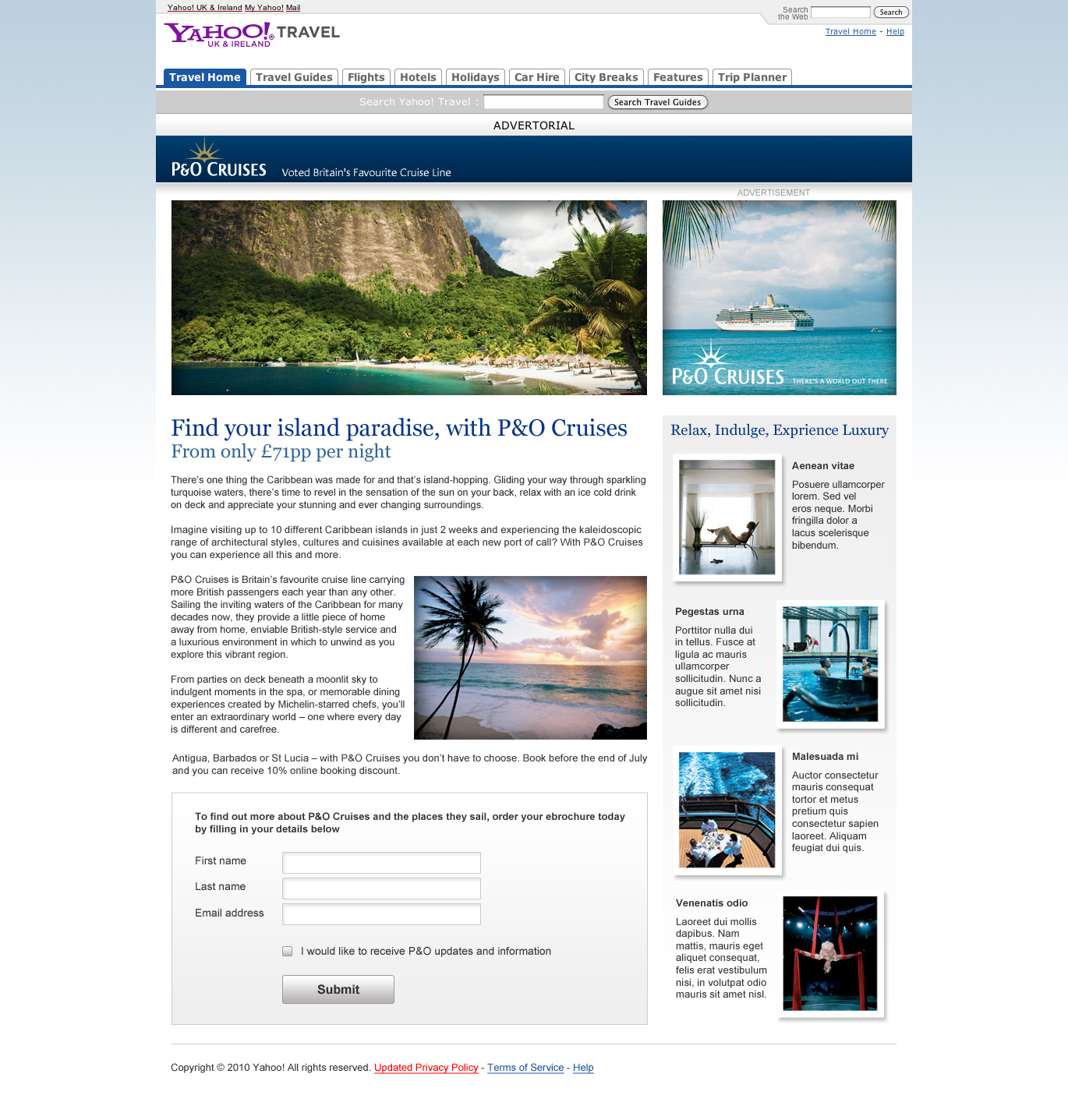 P&O Advertorial - Website Design in Farnborough, Hampshire