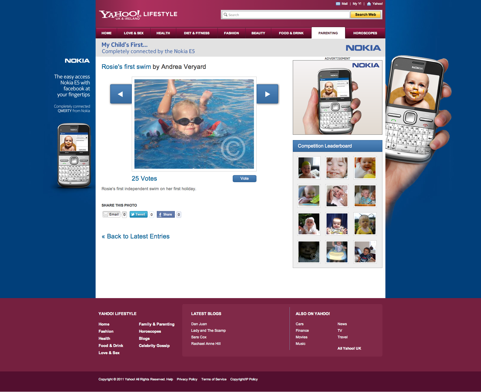 Nokia - My Child's First - Website Design and Development Farnborough