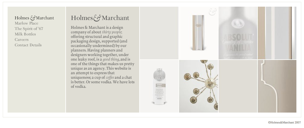 Holmes & Marchant - Website developed in Farnborough