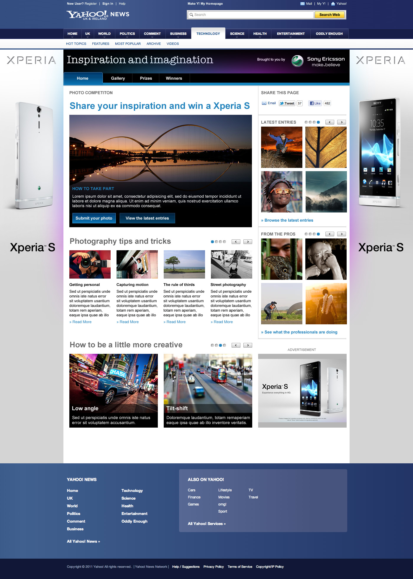 Inspiration and imagination - Web design Farnborough, Hampshire