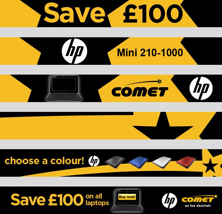 Comet - leaderboard - advertising - Website Design and Development in Farnborough