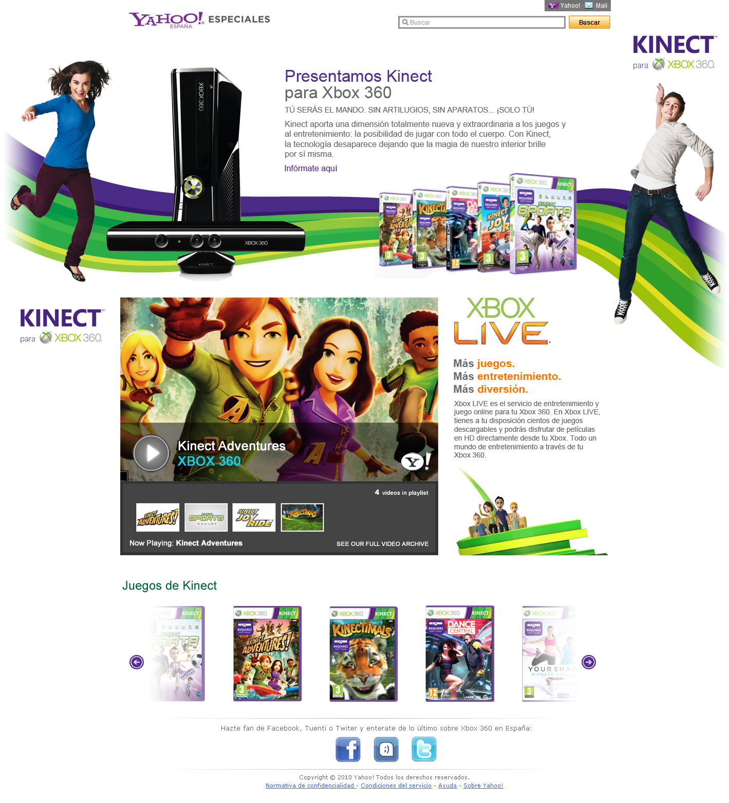 Marketing website development for Yahoo! and Xbox 360 - Web Design in Farnborough