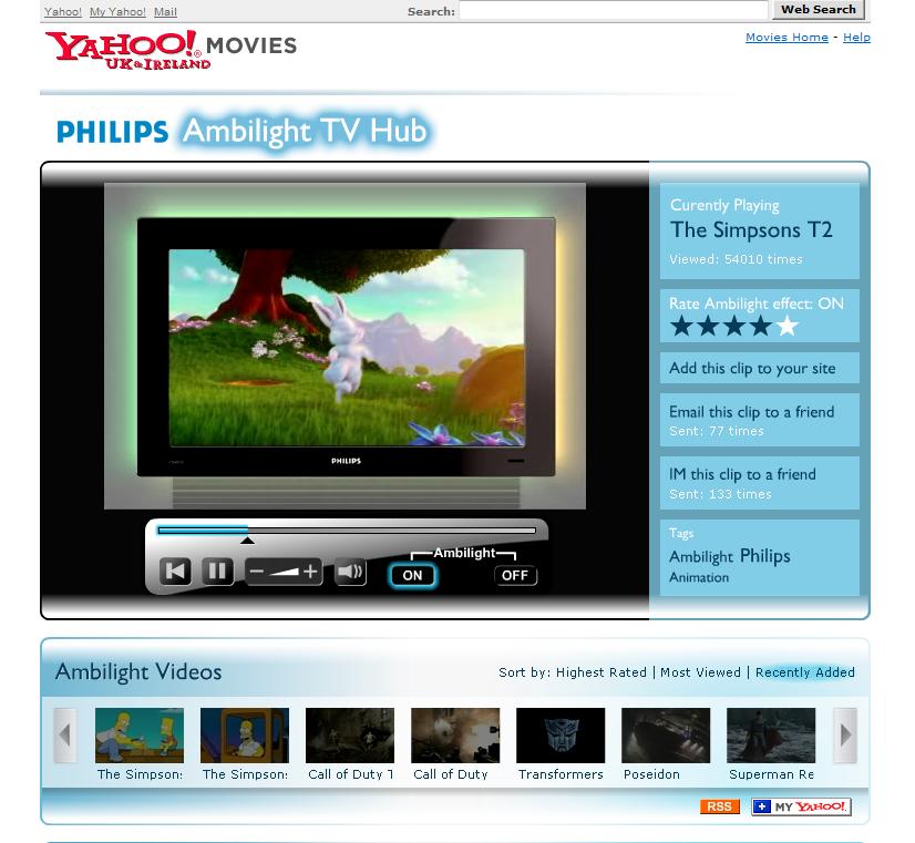 Philips Ambilight TV Hub - Web Design and Development in Farnborough