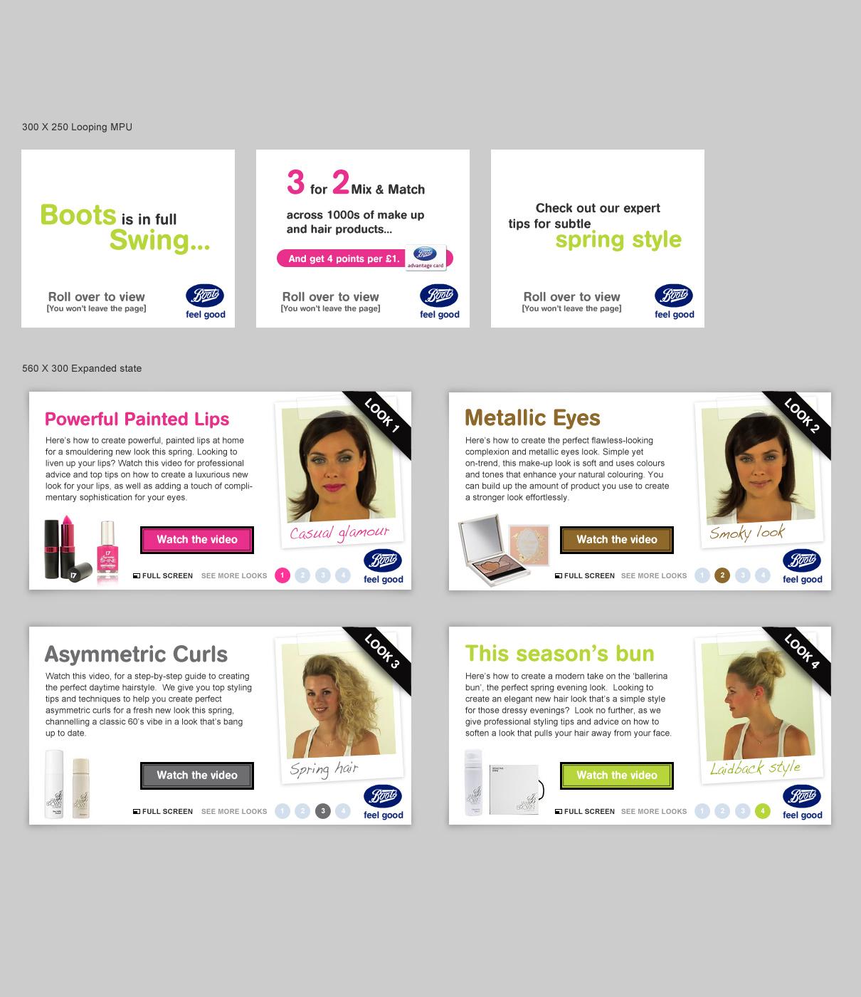 Boots rich media advertising - Website designed in Farnborough, Hampshire