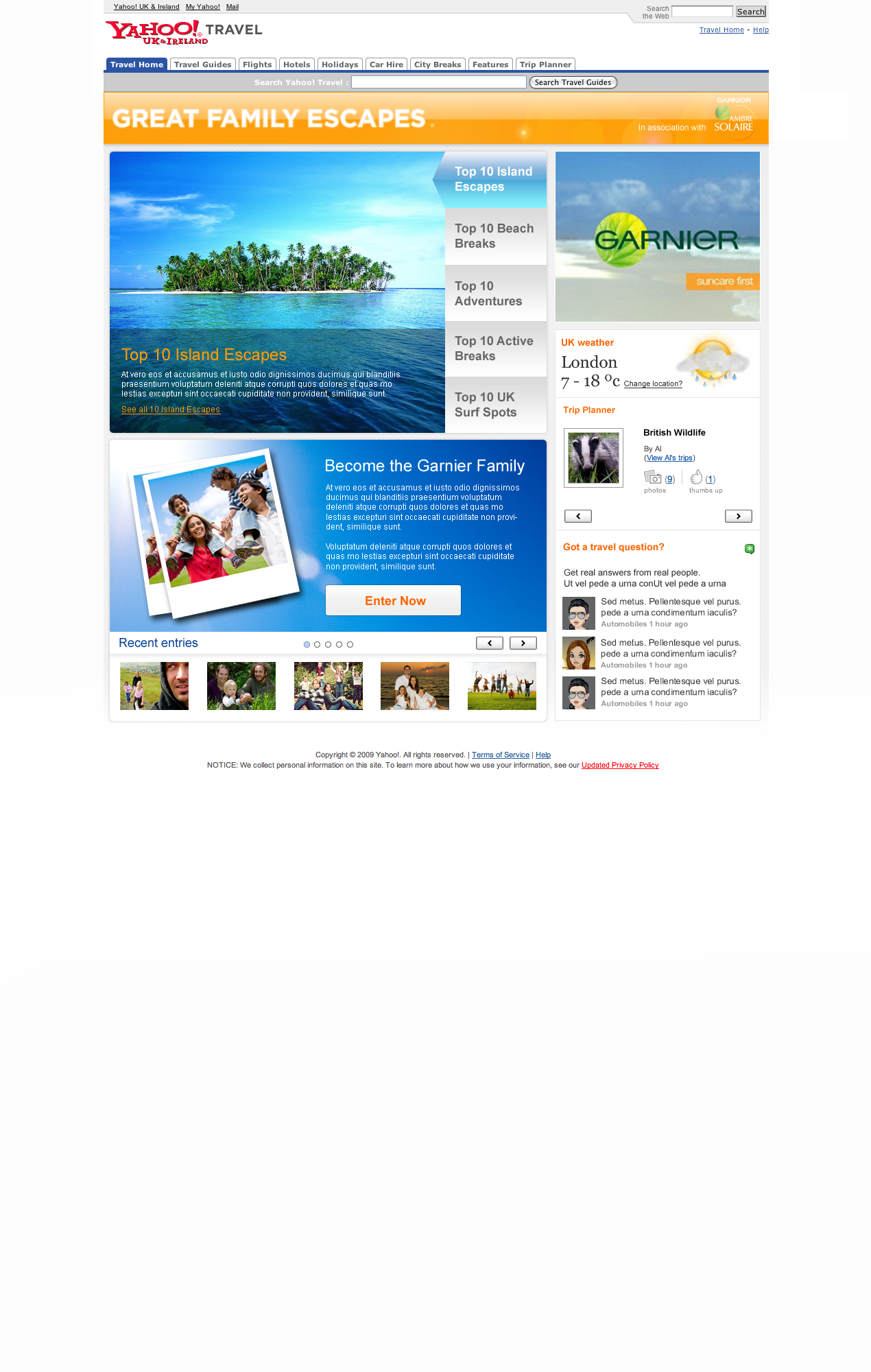 Great Family Escapes - Website designed in Farnborough
