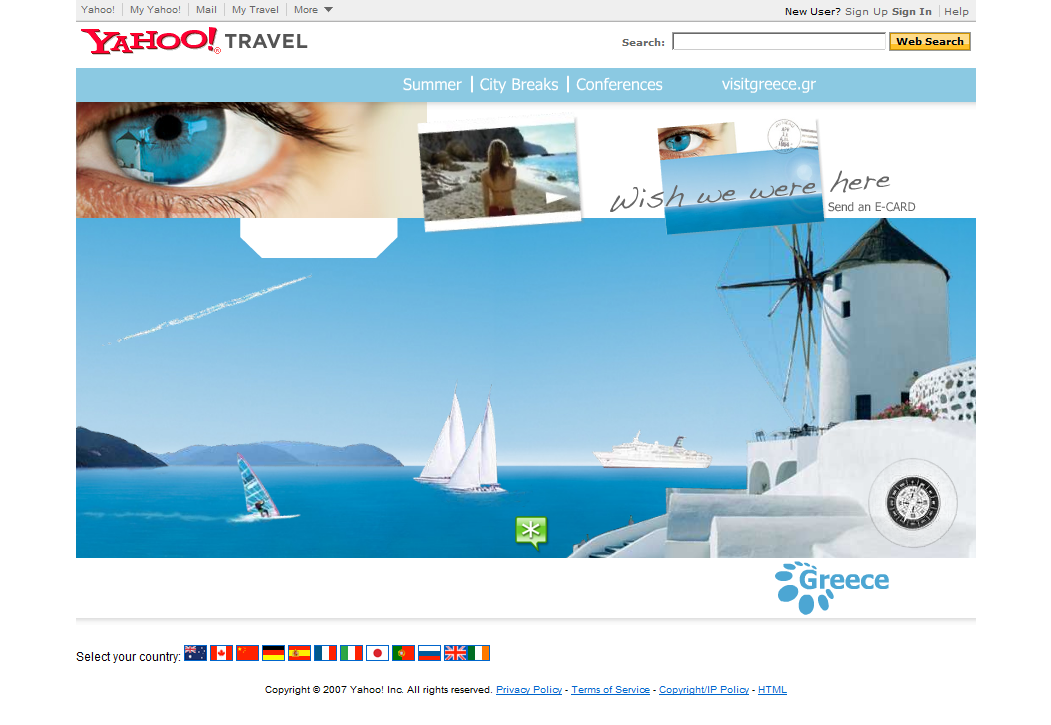 Visit Greece - Website Design and Development Farnborough