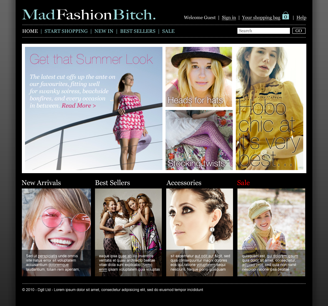 Mad Fashion B**** - Website design Farnborough, Hampshire - Ecommerce