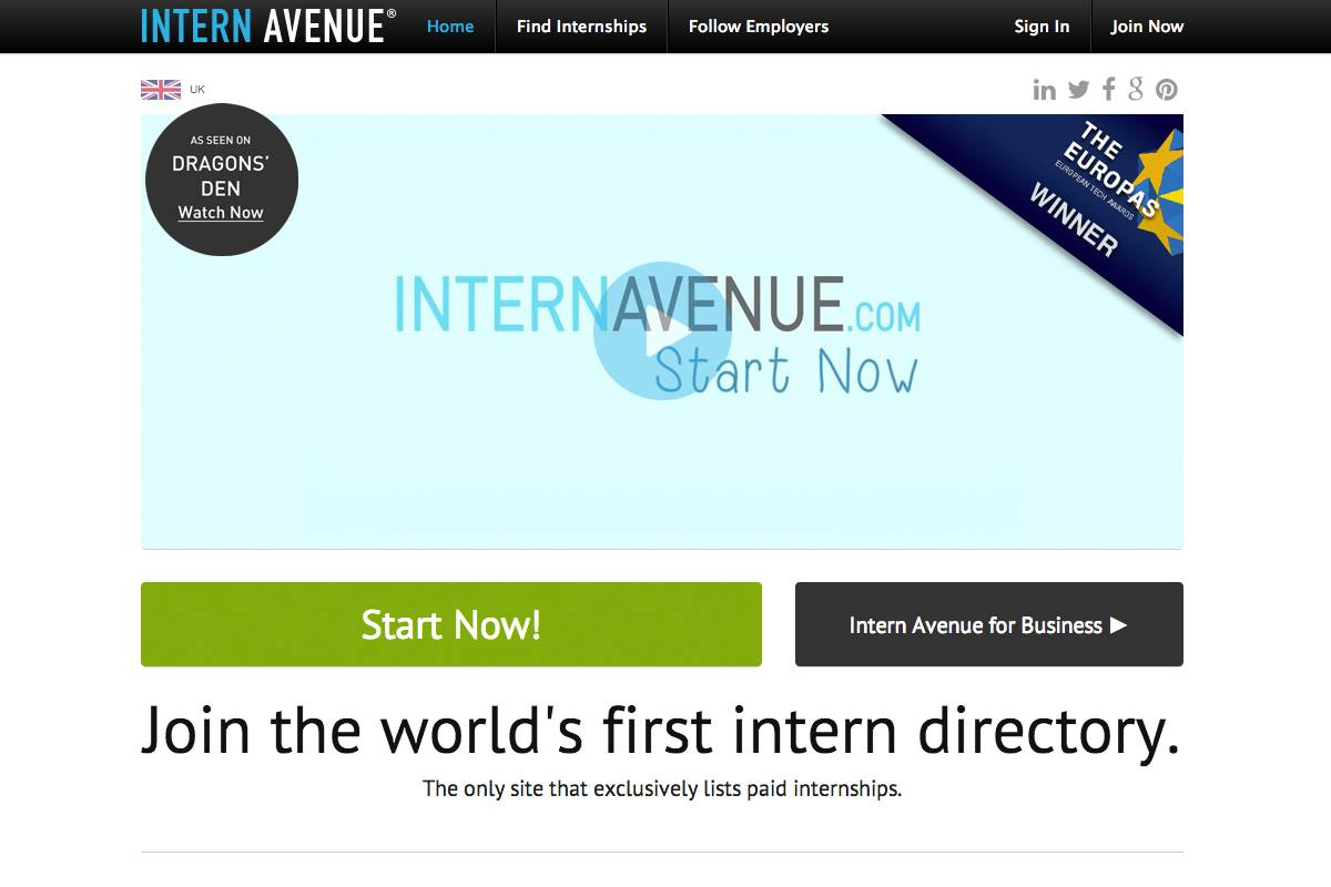 Intern Avenue User Experience Design - Web design Farnborough, web design Hampshire