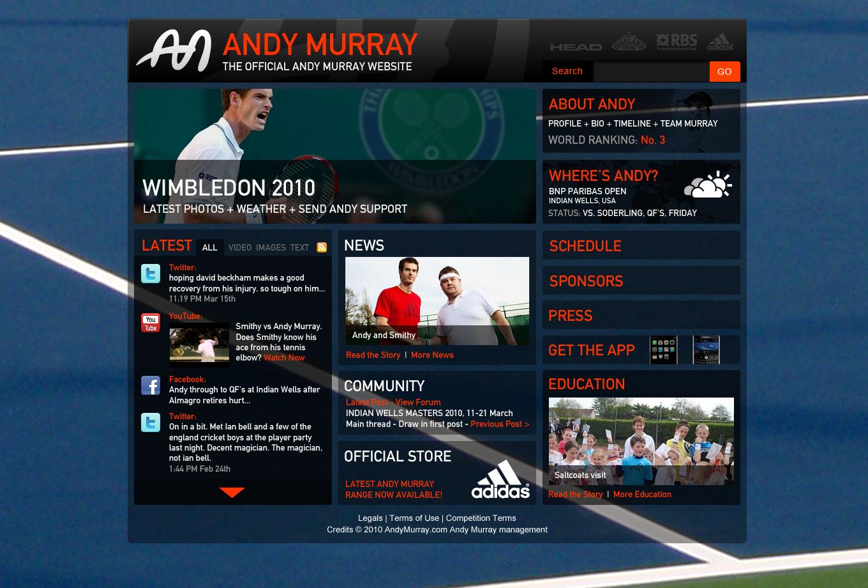 Andy Murray - Website Design in Farnborough