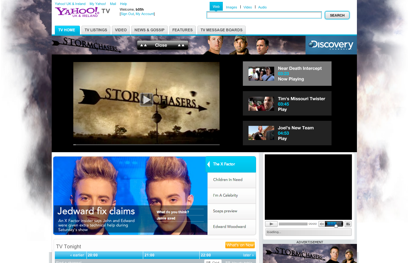 Storm chasers website takeover design - Designed in Farnborough