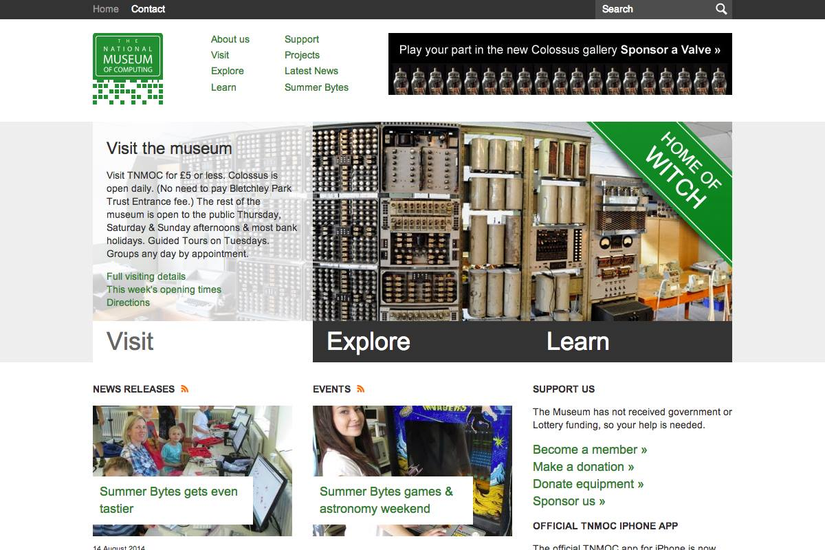 The National Museum of Computing -  Web design Farnborough, web design Hampshire