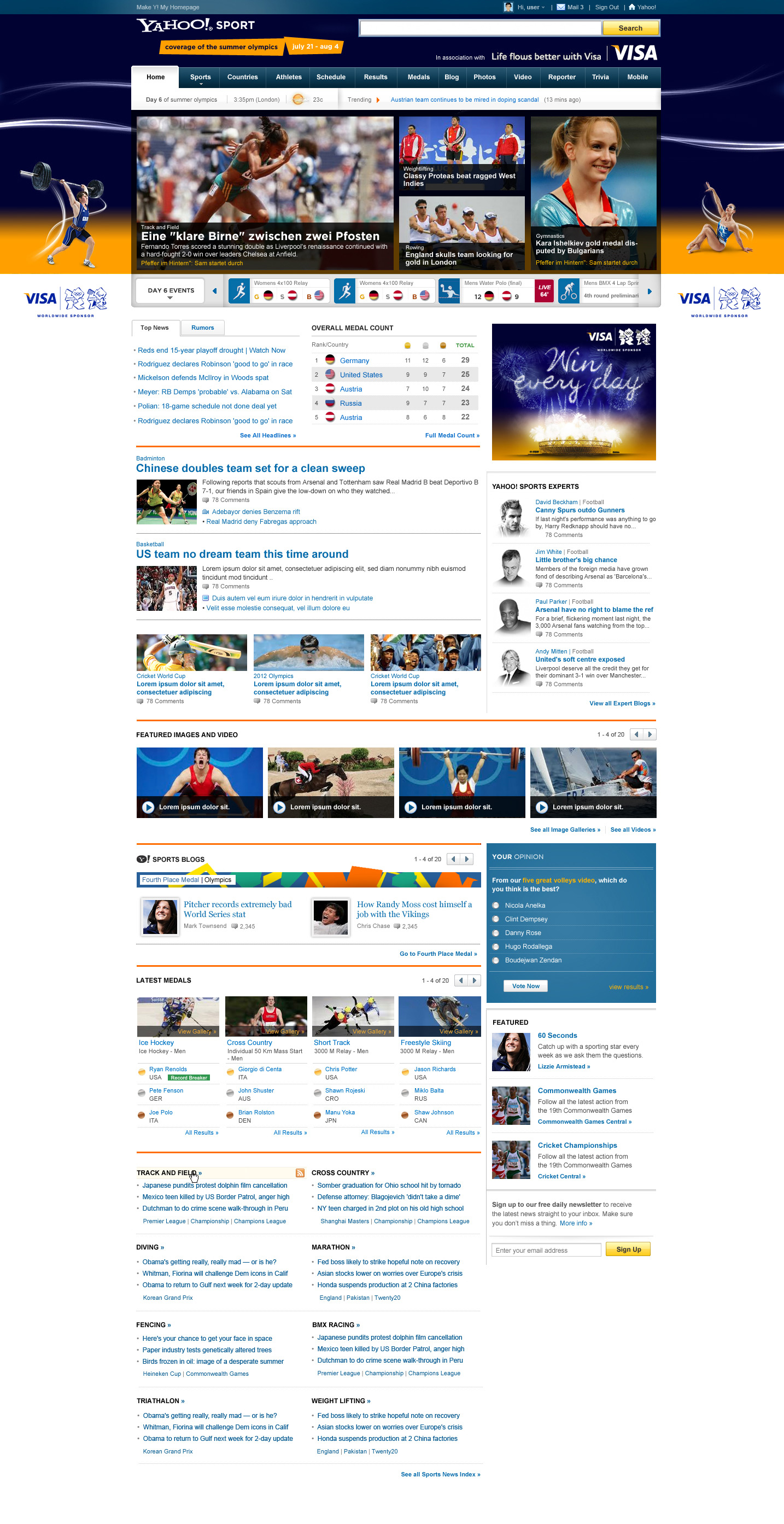 Visa Olympics - Website design in Farnborough, Hampshire